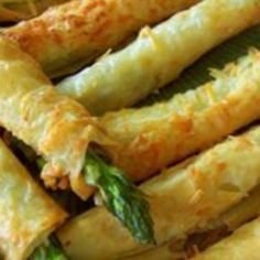 Asparagus Phyllo Appetizers Recipe | Just A Pinch Recipes