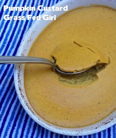 SCD Pumpkin Custard (*Use fresh pumpkin & substitute honey for maple syrup option...)
