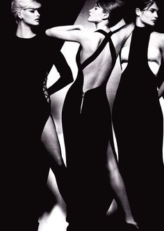 (left to right) Linda, Christy & Helena for Gianni Versace.