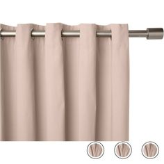 """Wespa Lined Cotton Eyelet Pair of Curtains Soft Pink, 66 x 72"""" from Made.com. NEW Meet Wespa - a collection of beautifully draped curtains and match.."""