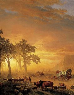 Emigrants Crossing the Plains, 1867, oil on canvas, German-American, Albert Bierstadt