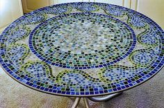 Turn my mosaic clock into outside table diy project