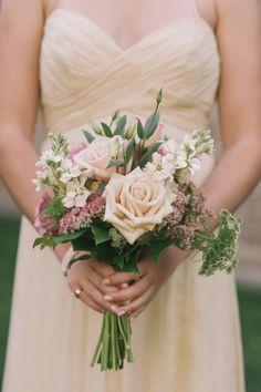 Peach bridesmaid inspiration: http://www.stylemepretty.com/canada-weddings/ontario/2014/08/05/elegant-ontario-country-wedding/ | Photography: Tara McMullen - http://taramcmullen.com/