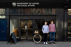 Department of Coffee and Social Affairs, London. What a fantastic name for a cafe.