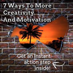 7 Ways To More Creativity And Motivation    Do you feel like you are stuck in a rut and lack the motivation to make changes that stick?   Something as simple as changing up your routine is exactly what you need! I have 6 more tips for you in my Monday blog and an action step to get you started.   Click the picture to get those tips and a free action step! Repin this to all your friends 👍🏻   Workout motivation, brain retraining, goals, limitless, positive mindset