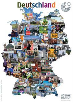 Carte Allemagne Goethe Institut.Pinterest
