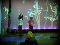 Funky Forest - Interactive Ecosystem by Theo Watson. Funky Forest is a wild and crazy ecosystem where children manage the