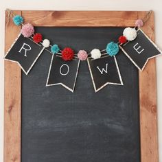 Add a little extra charm to a room or party with this Chalkboard Pennant Banner.
