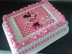 Bolo Da Minnie Mouse, Minnie Mouse Birthday Cakes, Birthday Sheet Cakes, Minnie Cake, Mickey Birthday, Mickey Mouse, Fun Cupcakes, Birthday Cupcakes, 2nd Birthday