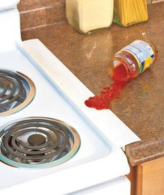 Use the sets of 2 Silicone Counter Gap Covers covers to bridge the gap between stove and counter, washer and dryer, desk and printer stand, and more.  #LTDCom