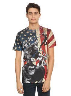 DC Comics Justice League Flag Sublimation T-Shirt