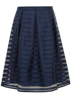Navy Stripe Midi Skirt - Dorothy Perkins Was $49. Now $44.