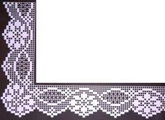 Bildergebnis für un'arte per creare filet pocket Crochet Mandala Pattern, Crochet Lace Edging, Crochet Borders, Crochet Trim, Crochet Flowers, Tatting Patterns, Crochet Stitches Patterns, Crochet Designs, Filet Crochet Charts