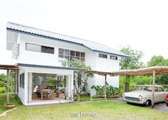 Japanese Modern House, Modern Tropical House, Low Budget House, Wood House Design, Rich Home, A Frame House, Minimal Home, Modern Farmhouse Exterior, Muji Home