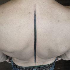 Black Line Spine tattoo Black Line Spine tattoo by Rudolf Tattooer.