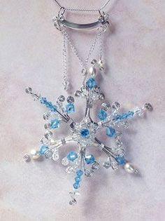 Faeries Frost beaded snowflake tutorial
