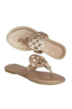 afee437f64aa Step into Style Essential Thong Sandals (Rose Gold)