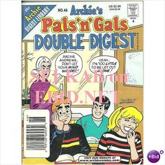 Archie's Pals and Gals Double Digest No. 46 Feb 2000 Archie Comic Book Used on eBid Canada