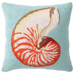 I pinned this Nautile Pillow I from the Seaside Chic event at Joss and Main!