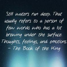 essay on proverb-still waters run deep