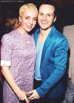 Amanda Abbington and Andrew Scott. Cute
