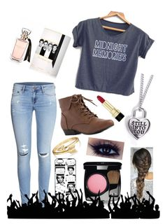 """""""1D Concert!!!!!!!"""" by harry-with-glasses ❤ liked on Polyvore"""