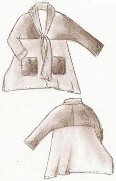 Kombi-Schnittmuster Lagenlook Shirt Katmandu Gr L