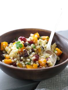 Autumn Couscous Salad is my favorite salad from Whole Foods and I figured out how to make it at home | foodiecrush.com