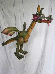 Dragon,  marionette puppet