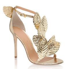 Kotur - 'Gilda' Gold Leaf Sandals >> Shoeperwoman