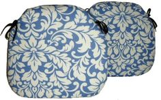 2 Spindle Chair Seat Pads Carlotti Cobalt