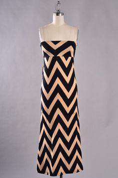 NanaMacs - Taupe Chevron Print Dress, $34.99 (http://www.nanamacs.com/taupe-chevron-print-dress/)