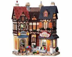 Lemax Village Collection Essex Corner Market Facade # 95893