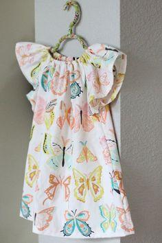Kid's winged peasant dress.