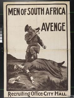 south african  propaganda poster