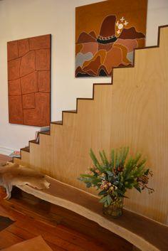 Emma Neville's striking staircase installation