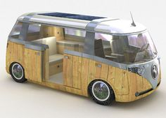 'solar camper van' by verdier, 2006 this camper van soaks-up rays from the sun to power all your camping needs.