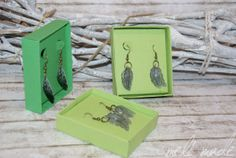 four feathers Federn Ohrringe selbst gemacht Big Shot Stampin'UP! SU Box