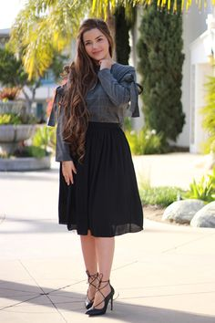 Girly Outfits – Page 4448828337 – Lady Dress Designs Modest Dresses, Modest Outfits, Skirt Outfits, Cute Dresses, Casual Dresses, Modest Clothing, Modesty Fashion, Fashion Dresses, Fashion Top