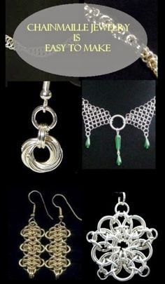 The thing about chainmaille jewelry is that they are simple to make and fairly easy to design. The internet is jam packed with various chainmaille instructions that will enable you to design and make your own chainmaille jewelry.