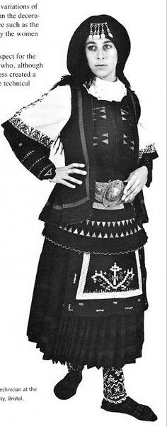 Folkcostume Embroidery Costume Of The Sarakatsani Or Karakachani Greece