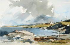 John Hoar | Landscape1 Watercolor Painting Techniques, Watercolor Landscape Paintings, Watercolor Artists, Seascape Paintings, Watercolour Painting, Landscape Art, Painting & Drawing, Watercolours, Watercolor Tutorials