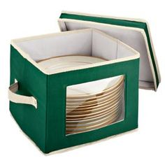 Dinnerware Storage CasebrDishes stay safely protected in a box that fits on a shelf. brfont color=B72626Buy 3 & Save!/font UNAVAILABLE