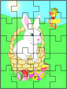 Preschool Worksheets, Kindergarten Activities, Activities For Kids, School Themes, Puzzles For Kids, 4 Kids, Easter Crafts, Happy Easter, Jigsaw Puzzles