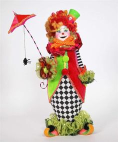 "Katherine's Collection Retired 14"" Slim The Clown Doll 28-29723"