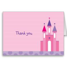 Sweet Princess Castle Thank You Note Cards