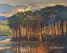 Nuevo - Costa madera - Giclee Fine Art PRINT de pintura Original de mate 16 x 20 por Jan Schmuckal