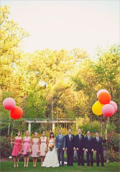 lovey the bridesmaids dresses and balloons. almost makes you want to get married. almost.