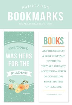 Read your next book in style with these free printable bookmarks! Do you have a reader in the family? Perfect for adding to their Easter basket.