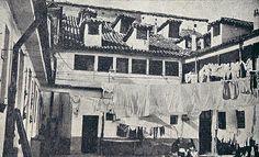 1914 Interior de la casa-cuartel de la Guardia Civil en la plaza de Lavapiés